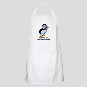 Puffins ate my homework BBQ Apron