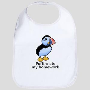 Puffins ate my homework Bib