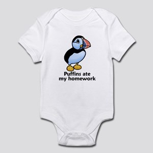 Puffins ate my homework Infant Bodysuit
