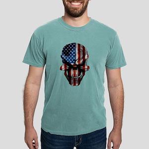 Patriotic American Flag Skull T-Shirt