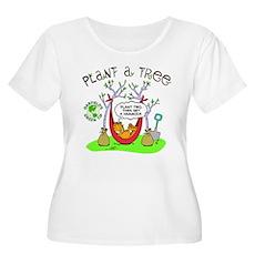 Plant A Tree Women's Plus Size Scoop Neck T-Shirt