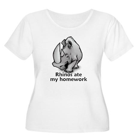 Rhinos ate my homework Women's Plus Size Scoop Nec
