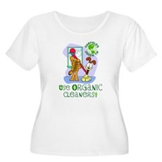 Organic Cleaners Women's Plus Size Scoop Neck T-Sh