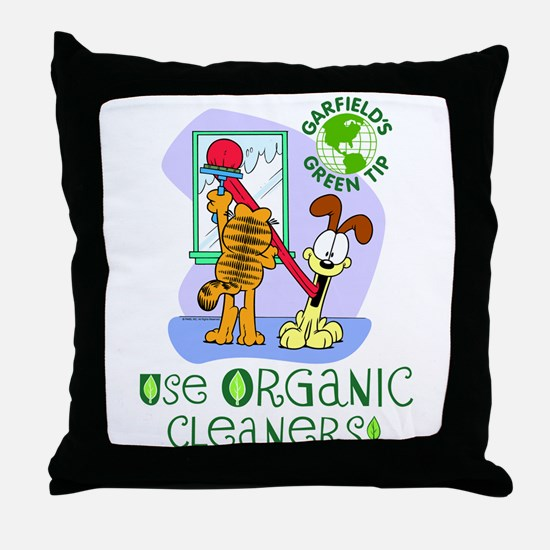 Organic Cleaners Throw Pillow
