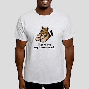 Tigers ate my homework Light T-Shirt
