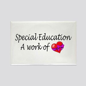 Special Education, A Work Of Love Rectangle Magnet