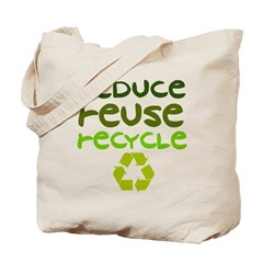 Reduce Reuse Recycle Canvas Reusable Tote Bag