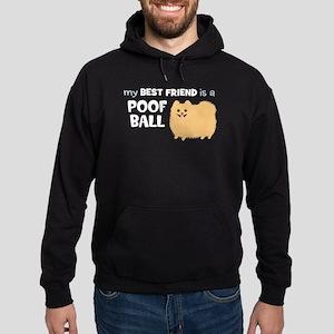 Pomeranian Poof Ball Hoodie (dark)