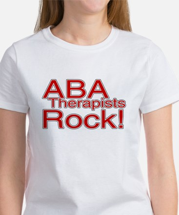 ABA Therapists Rock! Women's T-Shirt