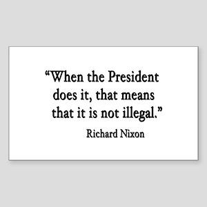 Nixon Rectangle Sticker