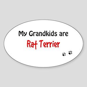 Rat Terrier Grandkids Oval Sticker