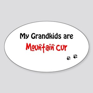 Cur Grandkids Oval Sticker
