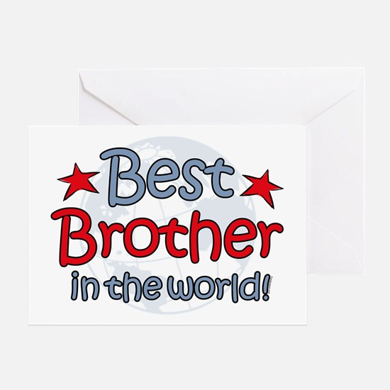 Best Brother Globe Greeting Card