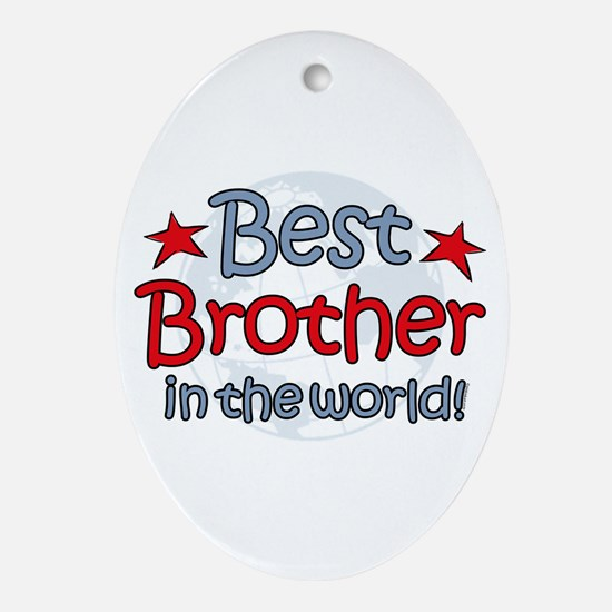 Best Brother Globe Oval Ornament