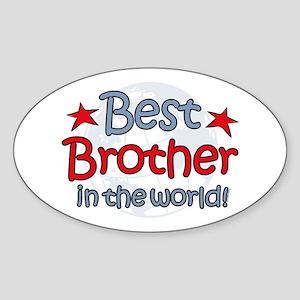 Best Brother Globe Oval Sticker