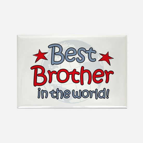 Best Brother Globe Rectangle Magnet