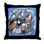 Cats Rule Throw Pillow