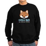 Shiba Inu Face Sweatshirt (dark)