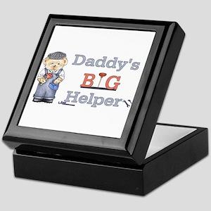 Plumber- Daddys Big Helper Be Keepsake Box