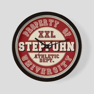 Steppuhn Last Name Athletic Dept Wall Clock