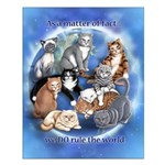 Cats Rule Small 16x20 Poster