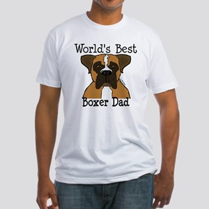 World's Best Boxer Dad Fitted T-Shirt