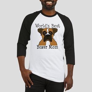 World's Best Boxer Mom Baseball Jersey