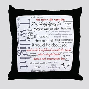 Twilight Quote Block Throw Pillow