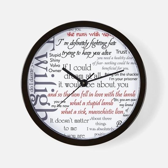 Twilight Quote Block Wall Clock