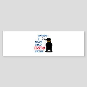 I have mad Escrima skills Sticker (Bumper)