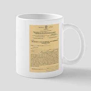 Texas Ranger Oath Mug