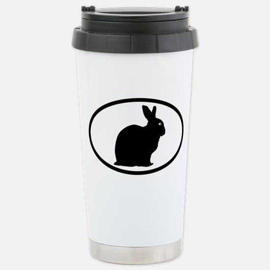 Bunny Rabbit Stainless Steel Travel Mug