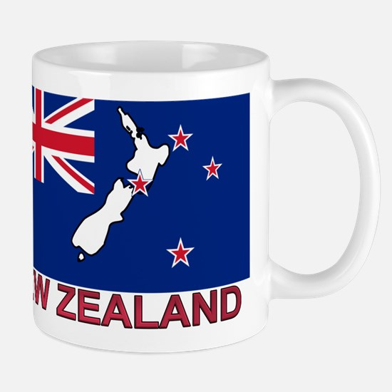New Zealand Flag (labeled) Mug