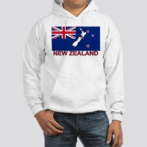New Zealand Flag (labeled) Hooded Sweatshirt