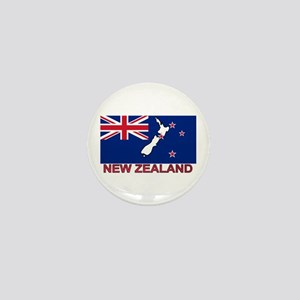 New Zealand Flag (labeled) Mini Button