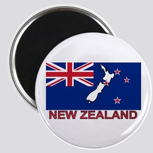 New Zealand Flag (labeled) Magnet