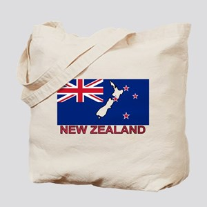 New Zealand Flag (labeled) Tote Bag