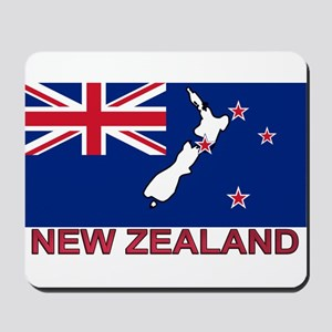 New Zealand Flag (labeled) Mousepad