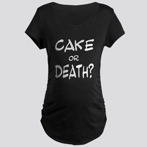 cakeordeath3700white trans Maternity T-Shirt