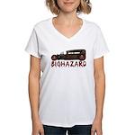 Biohazard- Women's V-Neck T-Shirt