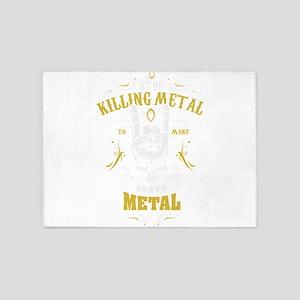 Stop Killing Metal To Make Death Me 5'x7'Area Rug