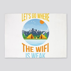 """Travel Quote """"Let's Go Whe 5'x7'Area Rug"""