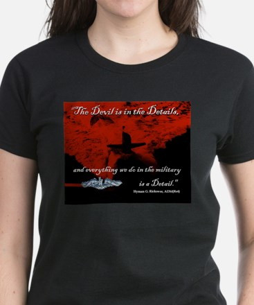 Devil in the Details Women's Dark T-Shirt