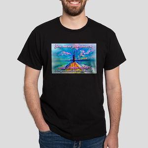 Steel Beach Scene Dark T-Shirt