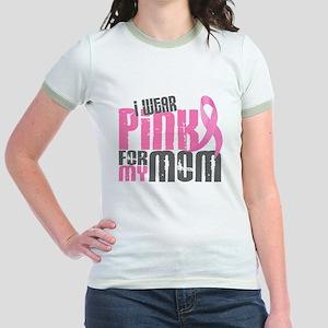 I Wear Pink For My Mom 6.2 Jr. Ringer T-Shirt