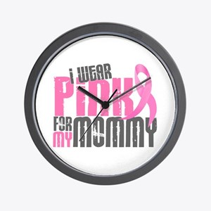 I Wear Pink For My Mommy 6.2 Wall Clock