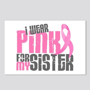 I Wear Pink For My Sister 6.2 Postcards (Package o