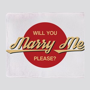 Will you marry me please? Throw Blanket