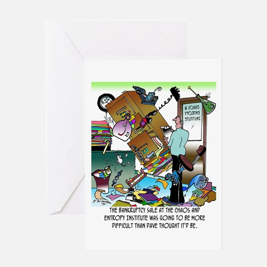 Chaos & Entropy Institute Bankruptcy Greeting Card