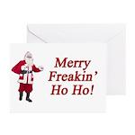 Merry Freakin' Ho Ho! Greeting Cards (Pk of 10)